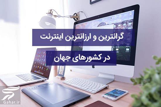 کشورهایی که گرانترین و ارزانترین اینترنت در جهان را دارند ، ایران رتبه سوم!, جدید 1400 -گهر