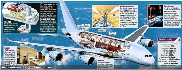 1355824752 قصر پرنده گران ترین هواپیمای شخصی جهان