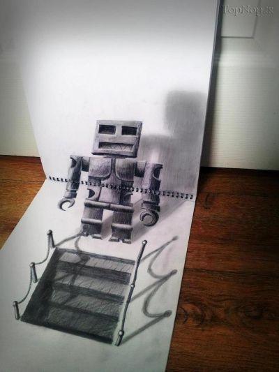 QtGLADqMY4 نقاشی های 3بعدی بسیار زیبا