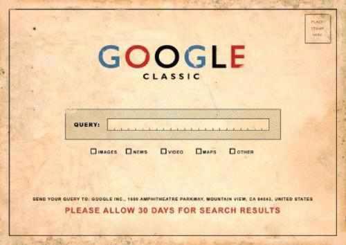 oldgoogle با موس گوگل را ویران کنید