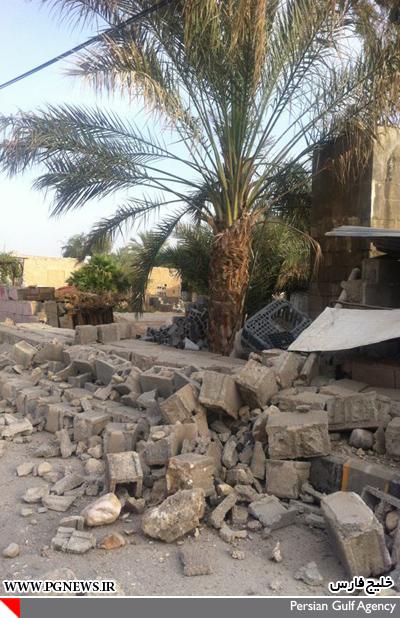 19649 697 خسارت ها در زمین لرزه بوشهر/عکس