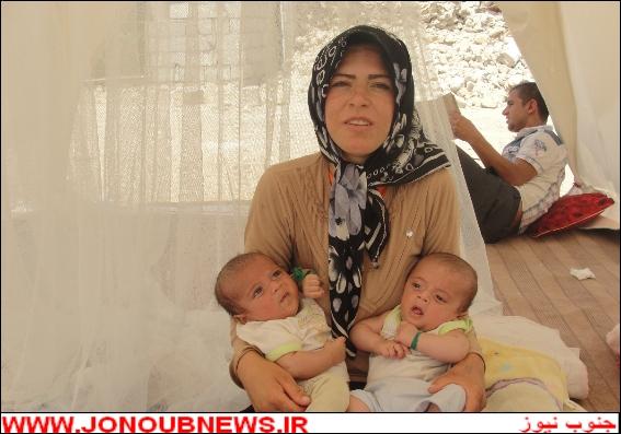 2wvskqz976pj7d2wss4 دوقلوهای ۲ ماهه در بوشهر از زیر آوار نجات پیدا کردند/عکس