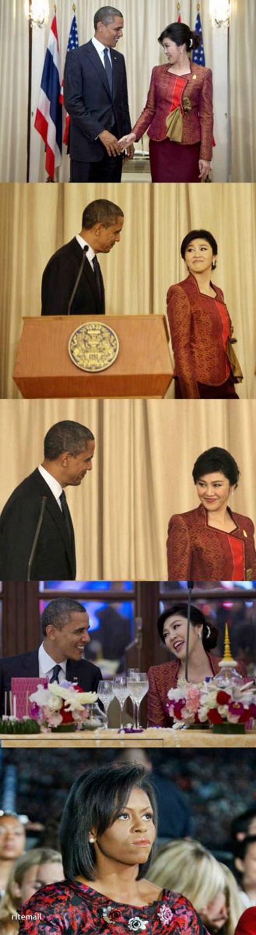 36057 174 کار زشت اوباما با یک زن دیپلمات/عکس