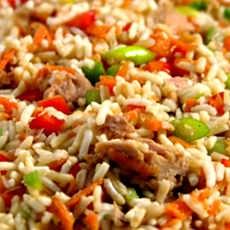 635013485082973950 طرز پخت برنج و سبزیجات به روش چینی