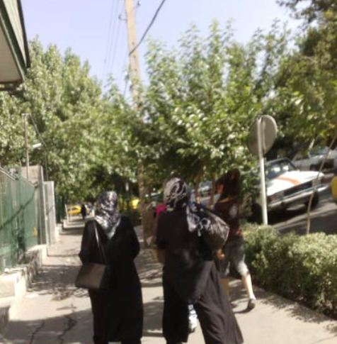 8997 9382 قدم زدن این دختر با شلوارک در خیابانهای تهران/عکس
