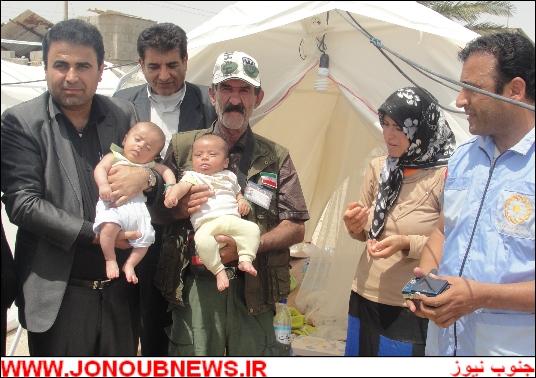 cnhuqcmvmj36tdnvskh دوقلوهای ۲ ماهه در بوشهر از زیر آوار نجات پیدا کردند/عکس