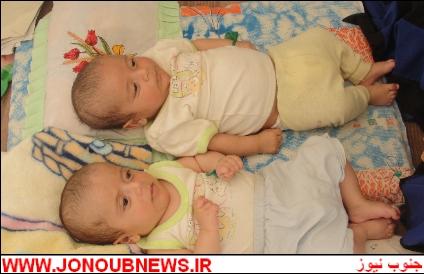 d5jrmftpktcj83f9776 دوقلوهای ۲ ماهه در بوشهر از زیر آوار نجات پیدا کردند/عکس
