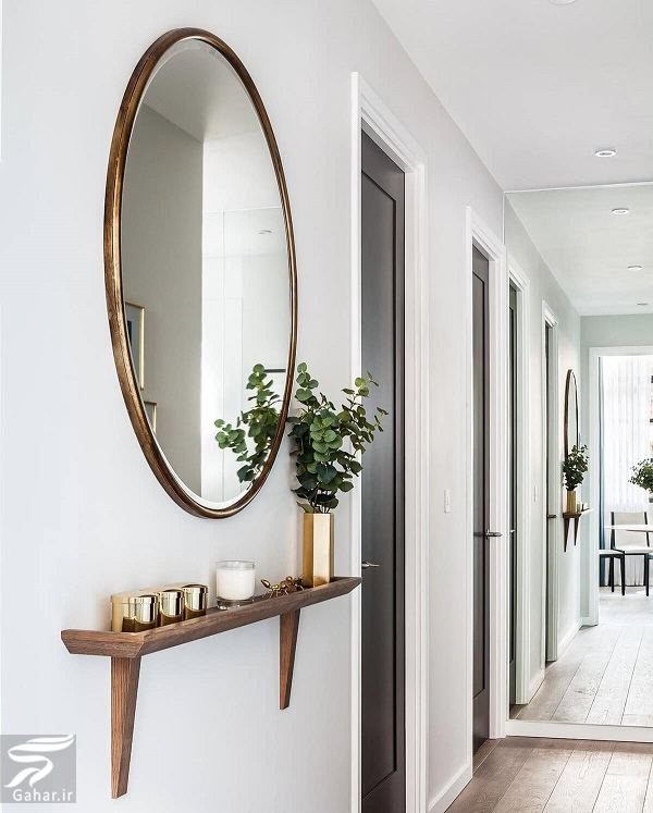 mirror decoration ideas کاربرد آینه در دکوراسیون مکانهای مختلف منزل