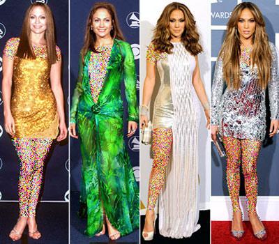 mo7149 مقایسه لباس ستاره های هالیوودی در 4 مراسم GRAMMY/عکس