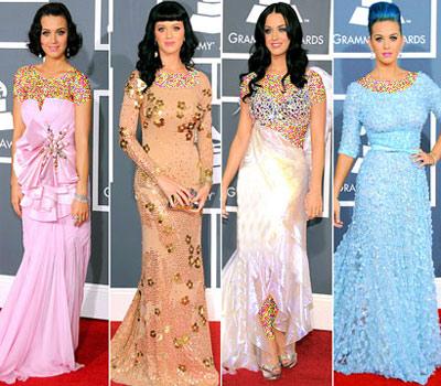 mo7150 مقایسه لباس ستاره های هالیوودی در 4 مراسم GRAMMY/عکس
