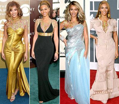 mo7151 مقایسه لباس ستاره های هالیوودی در 4 مراسم GRAMMY/عکس