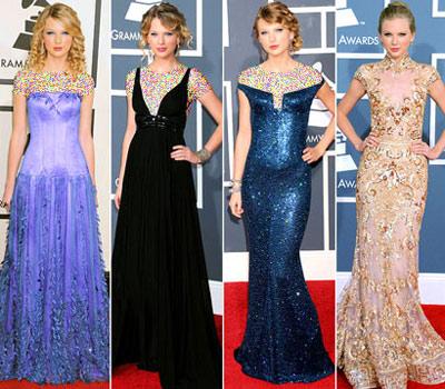 mo7153 مقایسه لباس ستاره های هالیوودی در 4 مراسم GRAMMY/عکس