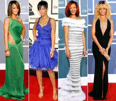 mo7155 مقایسه لباس ستاره های هالیوودی در 4 مراسم GRAMMY/عکس