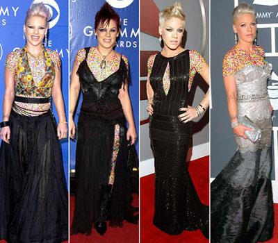 mo7156 مقایسه لباس ستاره های هالیوودی در 4 مراسم GRAMMY/عکس