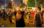 جشن و شادی مردم و هواداران دکتر روحانی در تهران / عکس