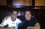 خداداد عزیزی در کنار خواننده لس آنجلسی در قطر/ عکس