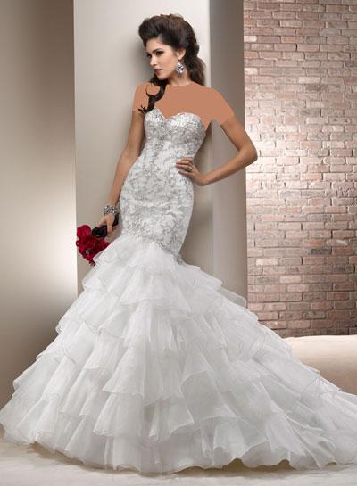 mo8356 مدل جدید و بسیار زیبا لباس عروس 2013
