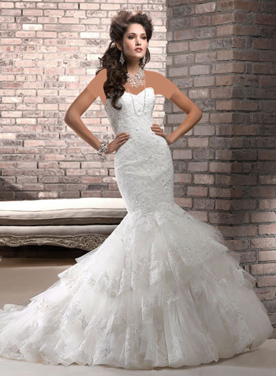 mo8357 مدل جدید و بسیار زیبا لباس عروس 2013