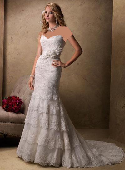mo8358 مدل جدید و بسیار زیبا لباس عروس 2013