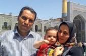 آستان بوسی خانواده محمدطاها برای ادای نذر / عکس