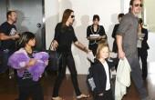 آنجلینا جولی و خانواده اش در ژاپن / عکس