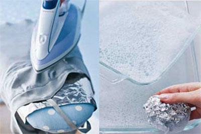 hou5206 کاربردهایی جالب از تکه های فویل در خانه داری