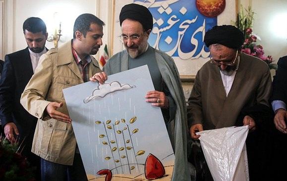 63517602596368357895442 239 مشایخی و هانیه توسلی در جشن تولد خاتمی / عکس