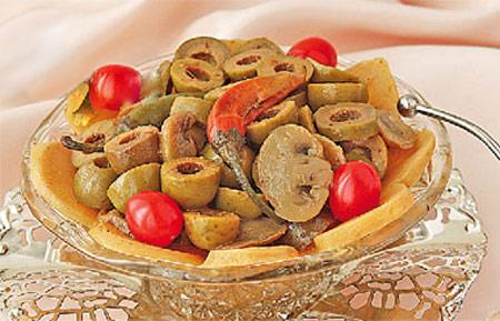 طرز تهیه ترشی قارچ و زیتون