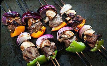 hou5335 راهنمای کباب کردن گوشت و سبزیجات