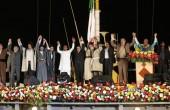 روبوسی احمدی نژاد و محسن یگانه /عکس