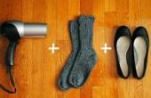 راه حل ساده برای کفش های تنگ! / عکس