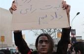تصویر ماندگار عضو ستاد میرحسین در راهپیمایی ۹ دی