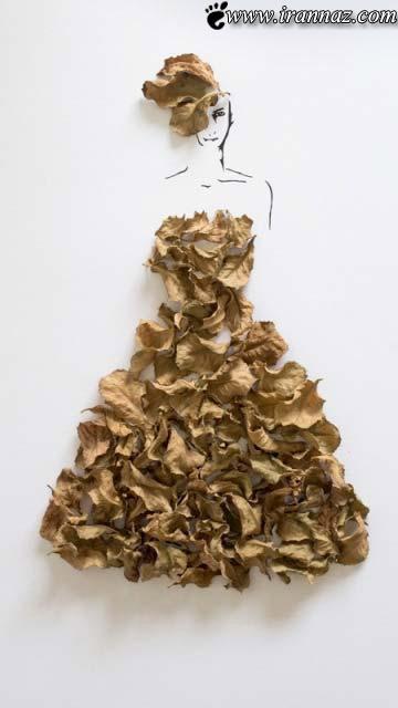 Photos of wonderful clothes made of flowers 5 عکس های بی نظیری از لباسهایی از جنس گل