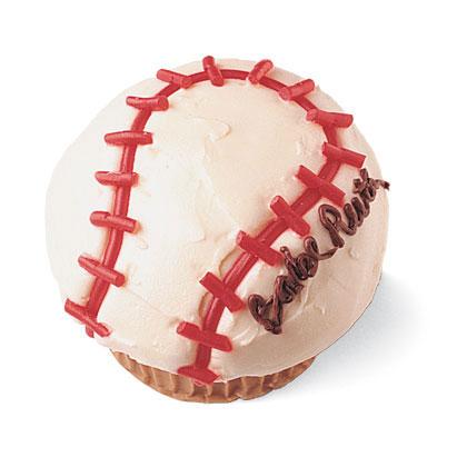 baseball cupcake recipe photo 420 0396 FF03098X کیک های تولد مخصوص پسر بچه ها