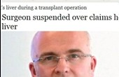 عجب جراحی بود این انگلیسی!؟ نام خودش را بر کبد بیمار حک کرد!