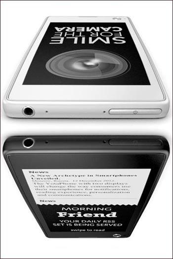 hhc1048 ساخت اولین تلفن هوشمند با دو صفحه نمایش / عکس