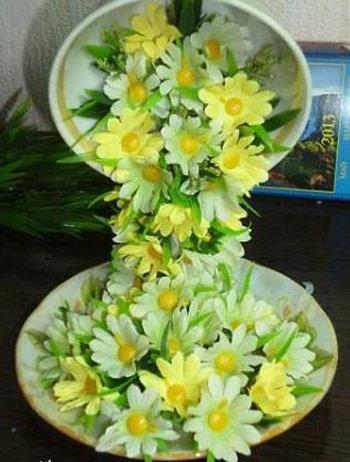 hou5901 آموزش تزیین فنجان و نعلبکی با گل