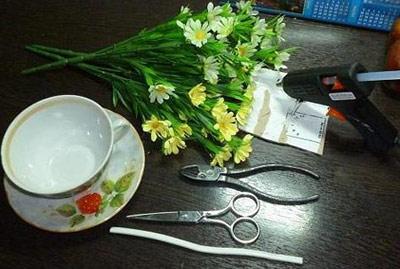 hou5902 آموزش تزیین فنجان و نعلبکی با گل