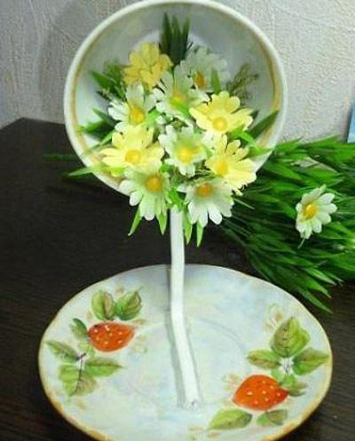 hou5905 آموزش تزیین فنجان و نعلبکی با گل