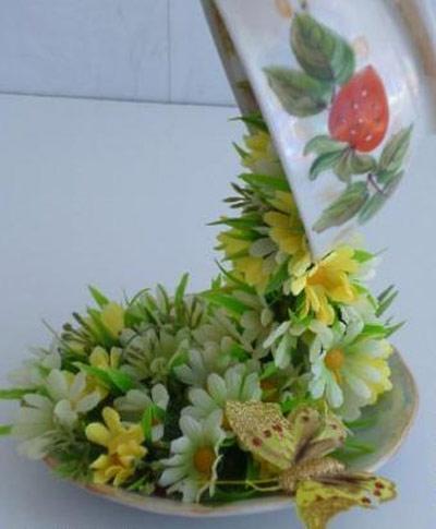 hou5906 آموزش تزیین فنجان و نعلبکی با گل