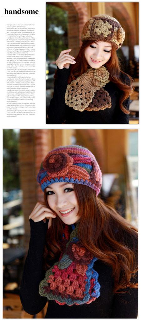 mo11198 مدل شال و کلاه دخترانه 2014