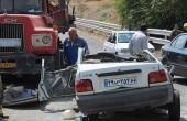تصادف هولناک کامیون و پراید در جاده کرج