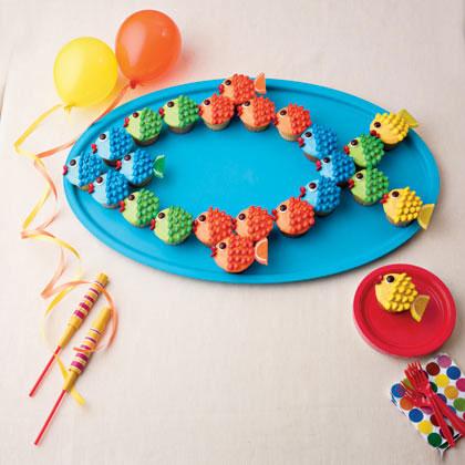 school o fish cupcake cake recipe photo 420 FF0311CAKE A08 کیک های تولد مخصوص پسر بچه ها