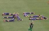جالب ترین شادی پس از گل فوتبال در جهان / عکس