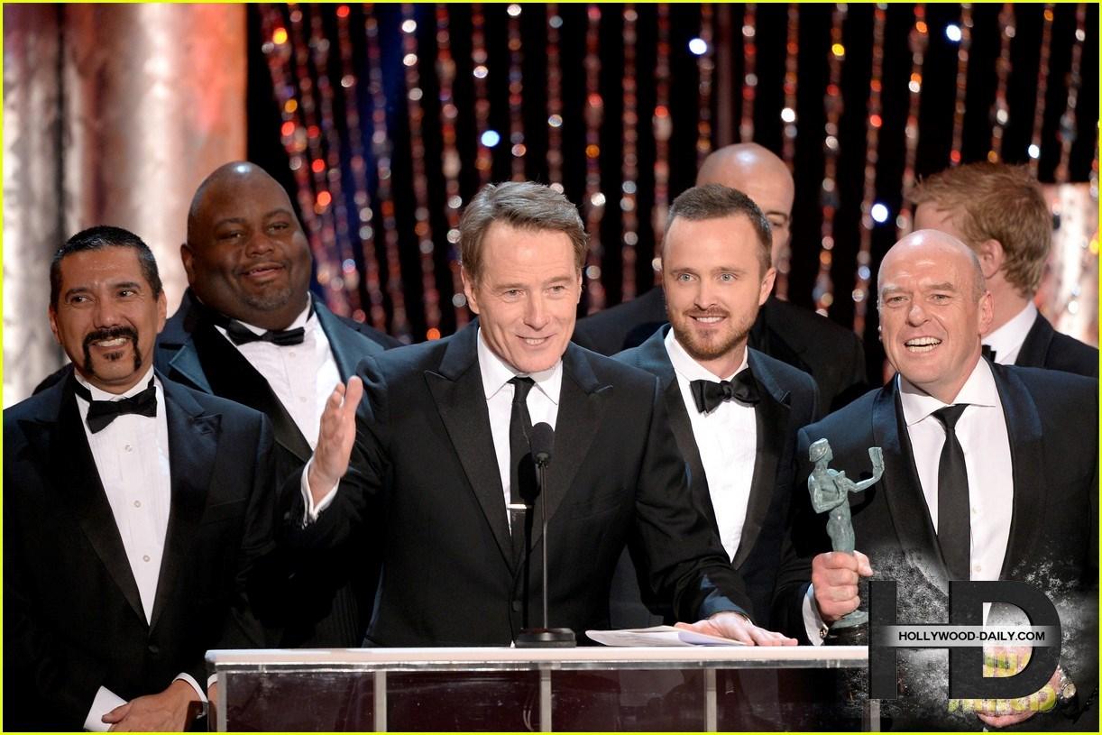 ab2aaronpaulbryancranst بازیگران Breaking Bad در مراسم SAG Awards 2014