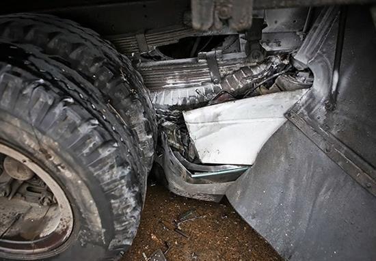 bn8 له شدن وحشتناک خودروها در تصادف جاده قم / عکس