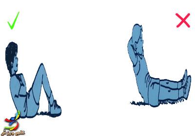 sit up elmevarzesh حرکات ورزشی مضر و ممنوع