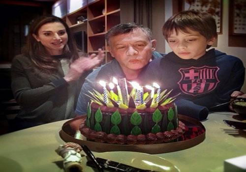 عکس جشن تولد پادشاه اردن و پسرش, جدید 1400 -گهر