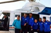عکس ; هلیکوپتر سواری استقلالی ها در کیش
