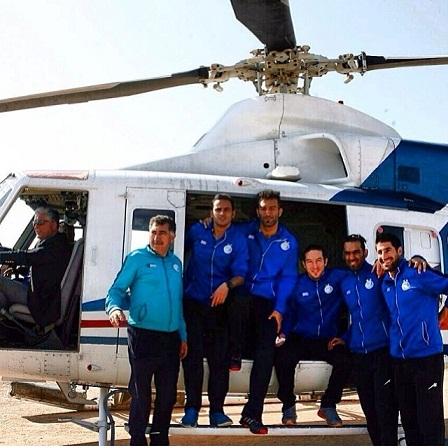 عکس ; هلیکوپتر سواری استقلالی ها در کیش, جدید 1400 -گهر
